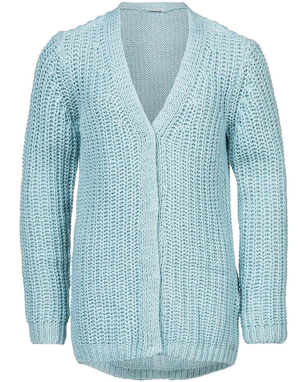 Strickjacken - Aqua - Jacke aus einer luxuriösen Wollmischung